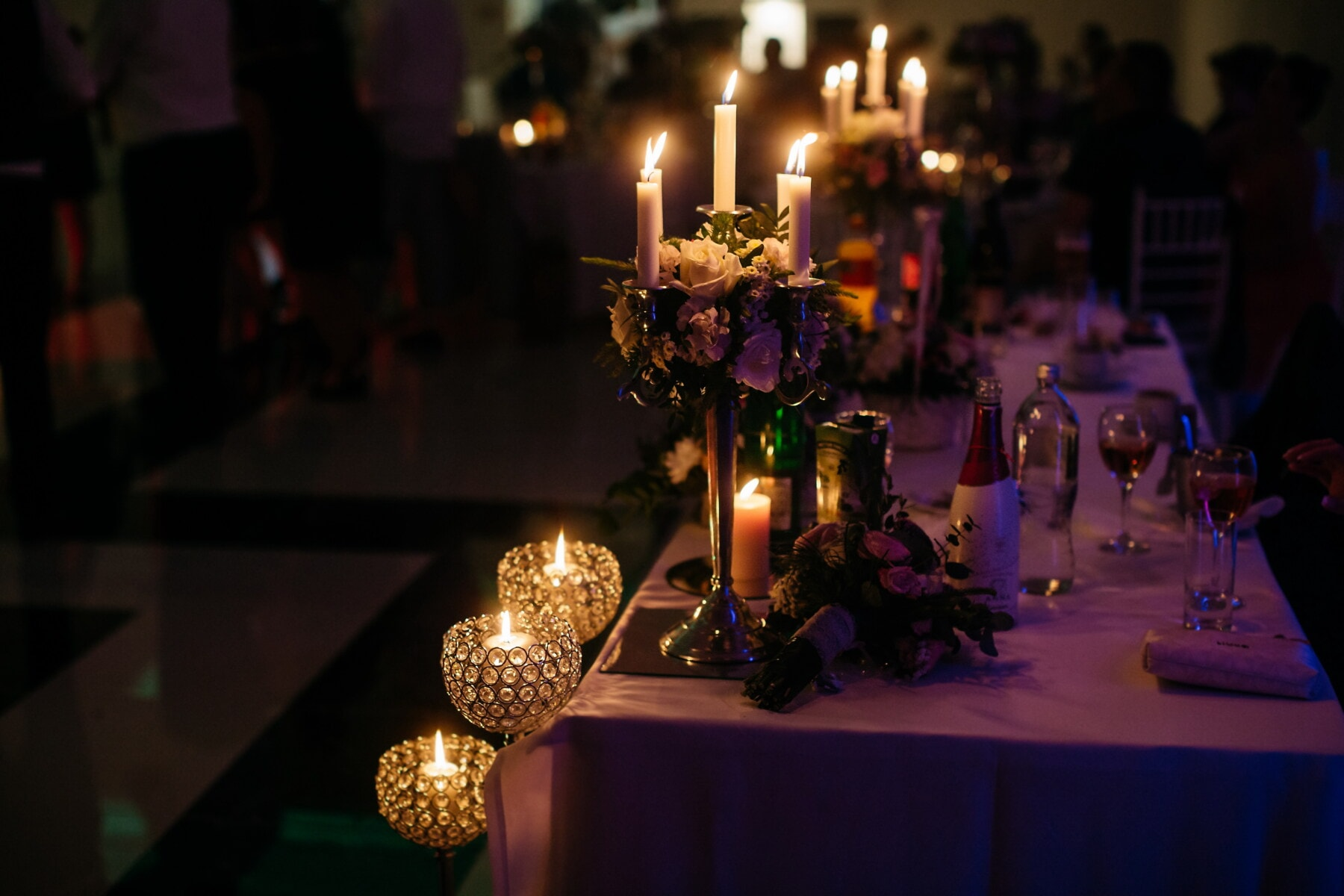 candlelight, dinner table, evening, candles, fancy, candlestick, hotel, celebration, candle, people