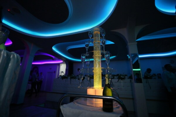 white wine, hotel, fancy, nightlife, nightclub, special, party, spectacular, platform, light