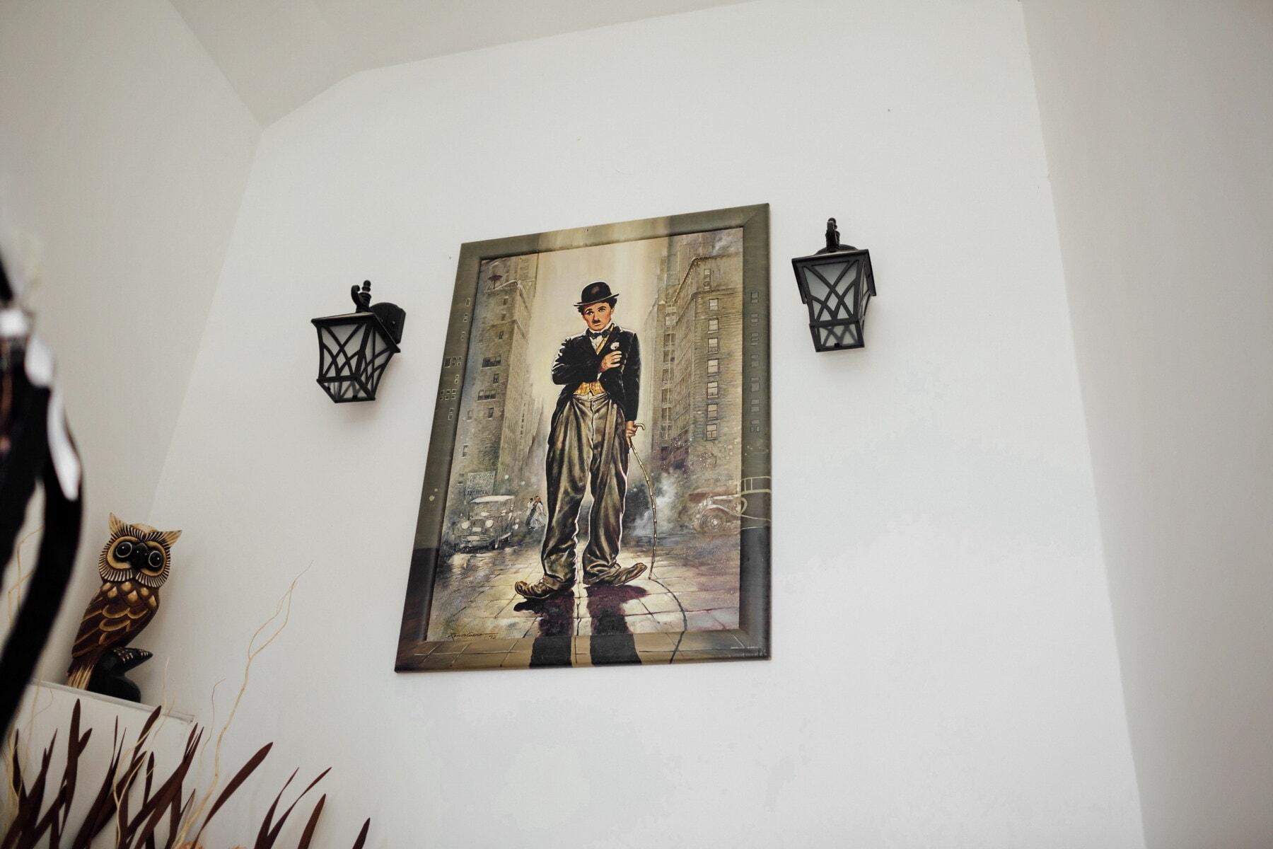 Malerei, Bildende Kunst, Wände, Lust auf, Laterne, Interieur-design, Kunst, drinnen, Zimmer, Möbel