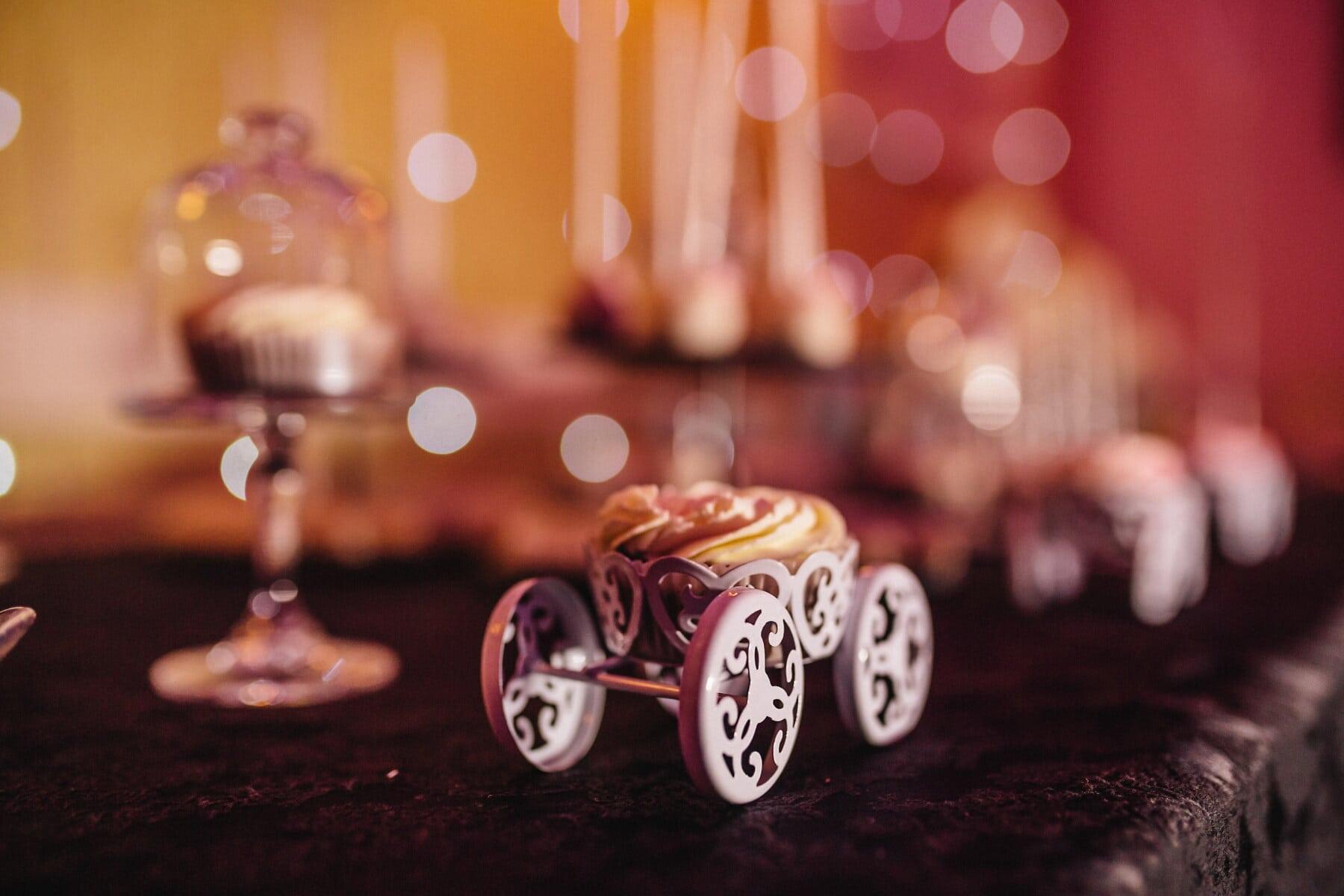 Cupcake, aus nächster Nähe, Partei, Feiertag, Weihnachten, traditionelle, Feier, drinnen, Candle-Light, Ferien
