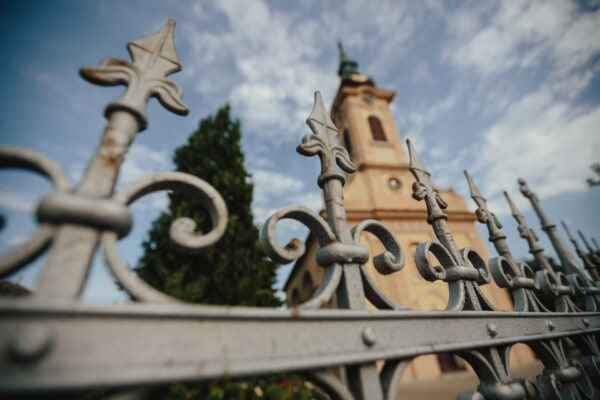 cast iron, handmade, fence, ornament, gate, church tower, iron, arrowhead, old, architecture