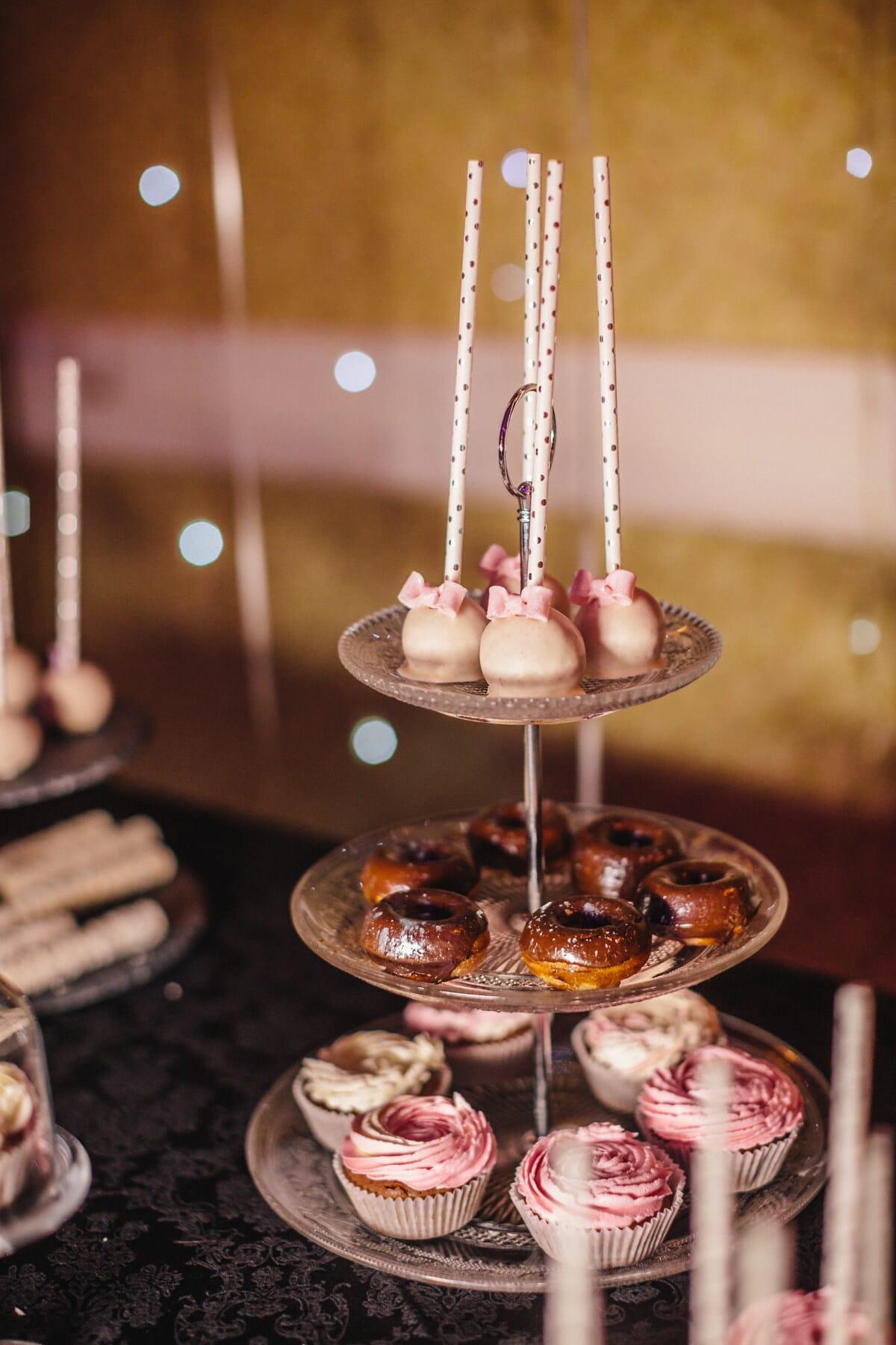 lollipop, cupcake, cake shop, party, glass, dinner, sugar, food, chocolate, indoors