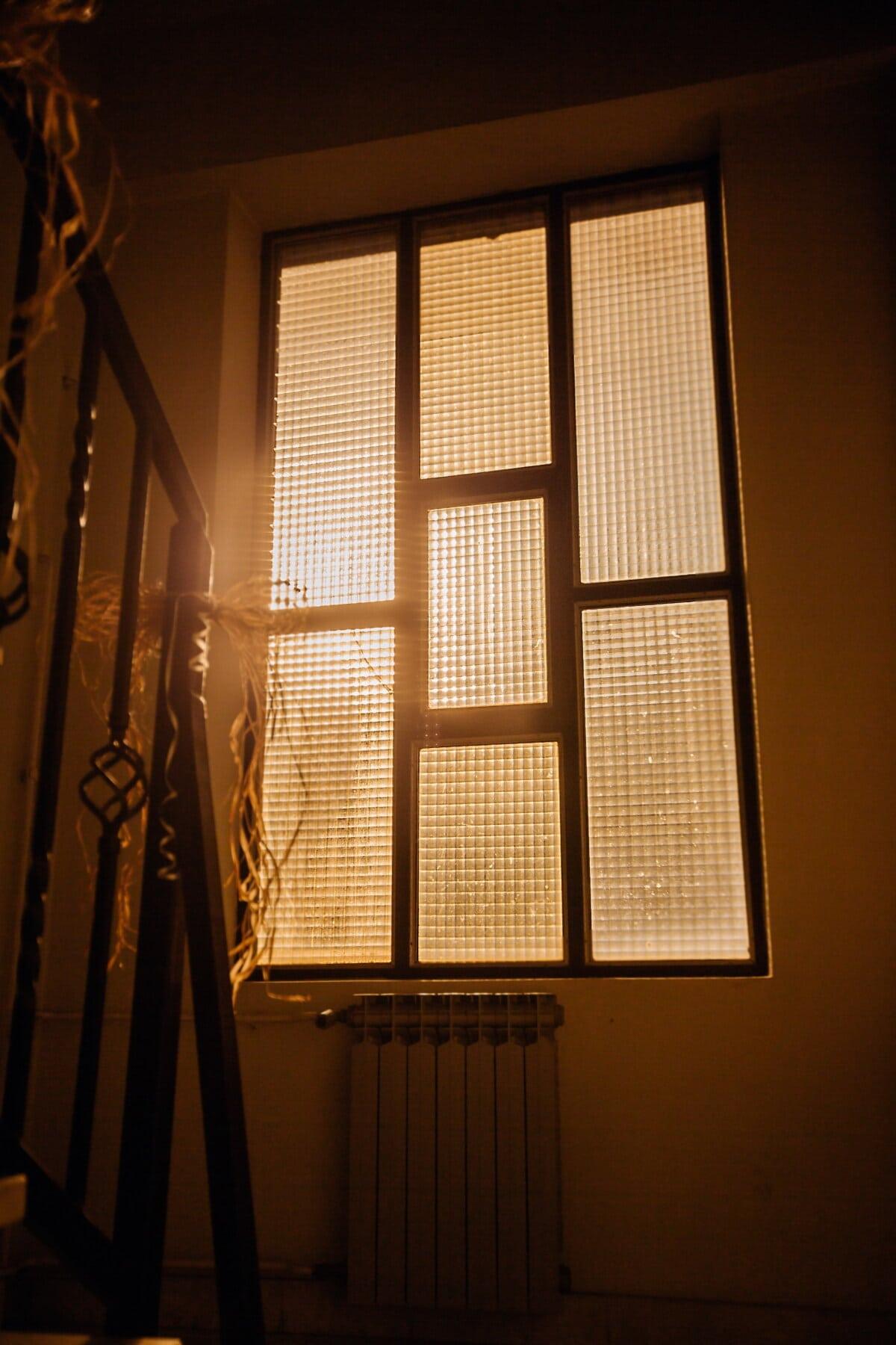 rayons de soleil, fenêtre, lumière, escalier, architecture, ombre, chambre, à l'intérieur, soleil, réflexion