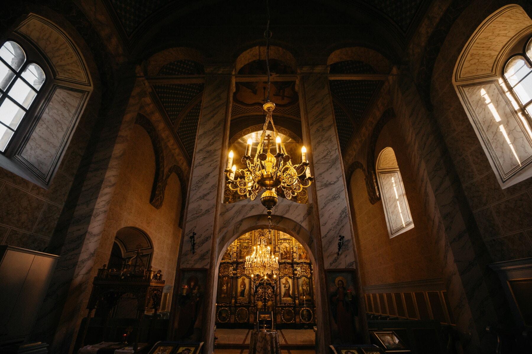 Kloster, orthodoxe, Innendekoration, Altar, geistigkeit, mittelalterliche, innen, Architektur, Struktur, kathedrale