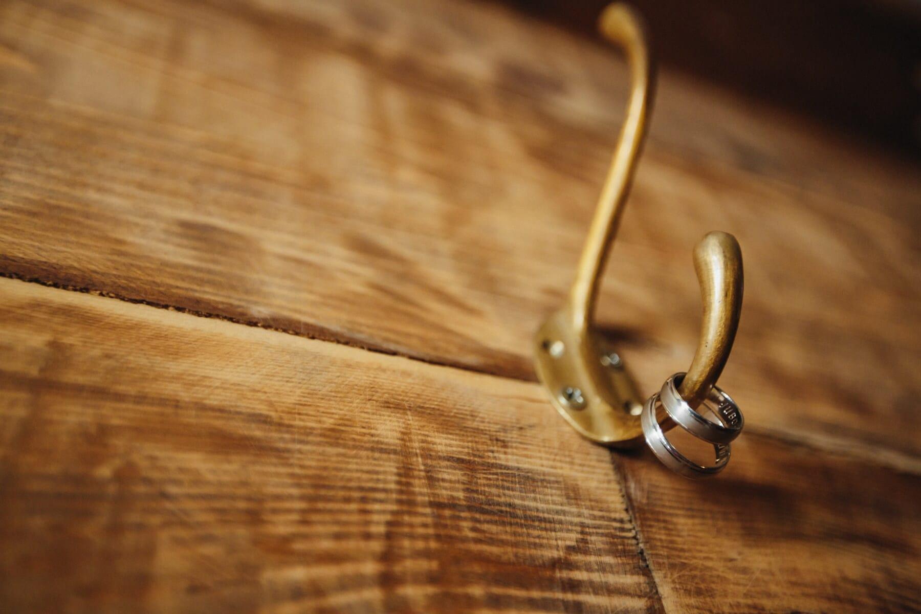 planches, en bois, bijoux, anneaux, cintre, or, éclat doré, bois, Retro, vieux
