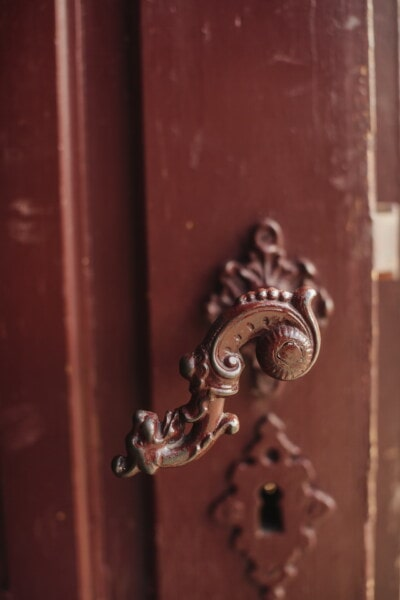 door, baroque, old style, fastener, gate, latch, wood, lock, iron, entrance