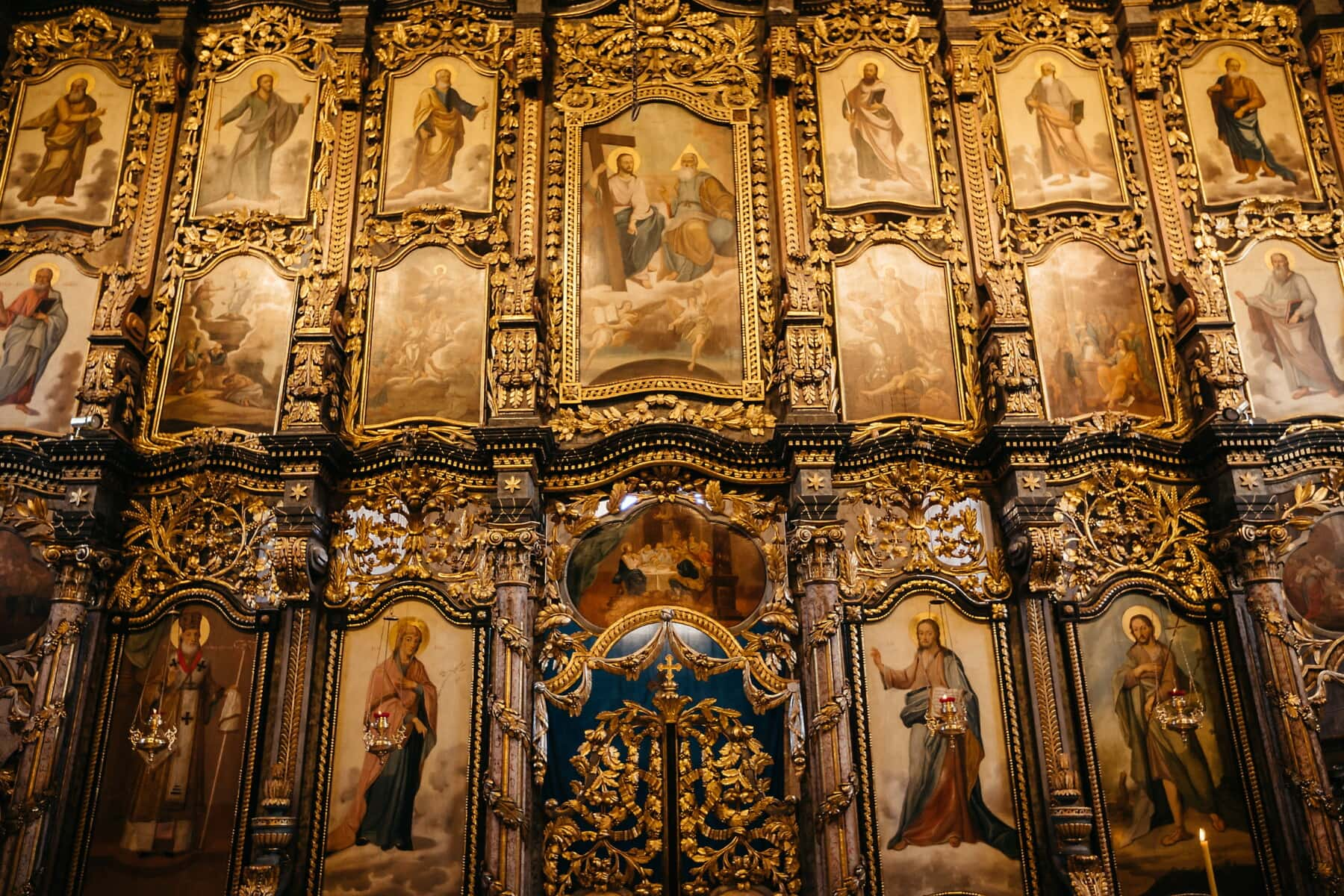 russian, orthodox, saint, church, altar, icon, religion, cathedral, art, architecture