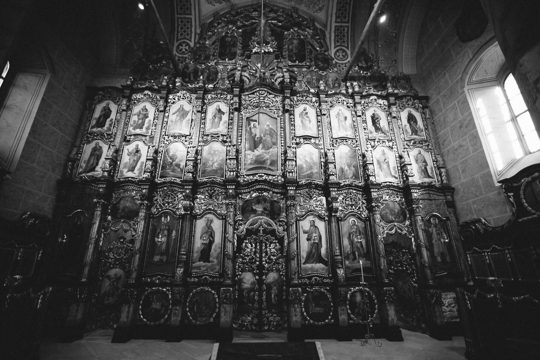 autel, Saint, médiévale, Russe, église, orthodoxe, cathédrale, religion, art, architecture