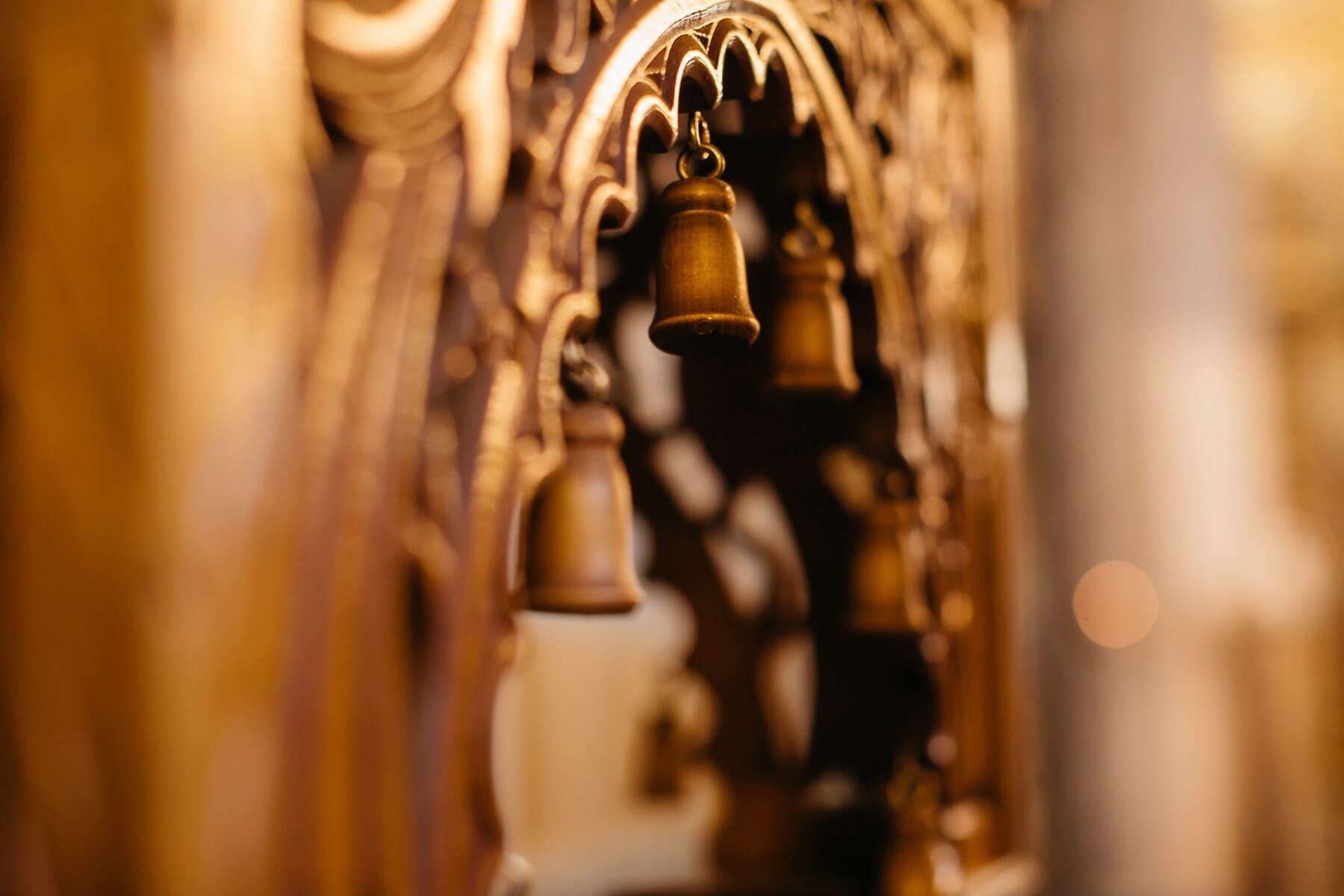 aus Holz, Glocke, Tischlerei, alt, Möbel, Barock, Ornament, handgefertigte, drinnen, Antik