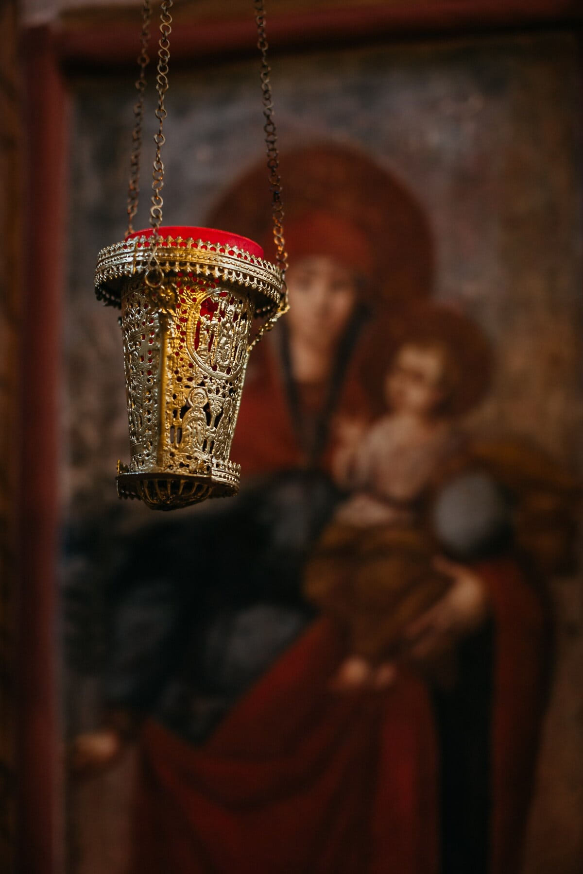 object, religious, relict, christianity, hanging, gold, religion, temple, art, monastery