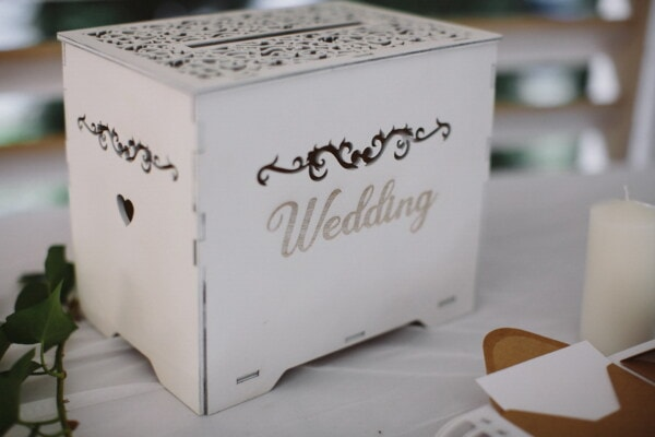 vintage, wedding, box, wooden, container, carton, indoors, paper, interior design, wood