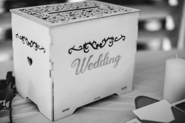 white, box, wedding, symbol, romantic, container, carton, monochrome, retro, love
