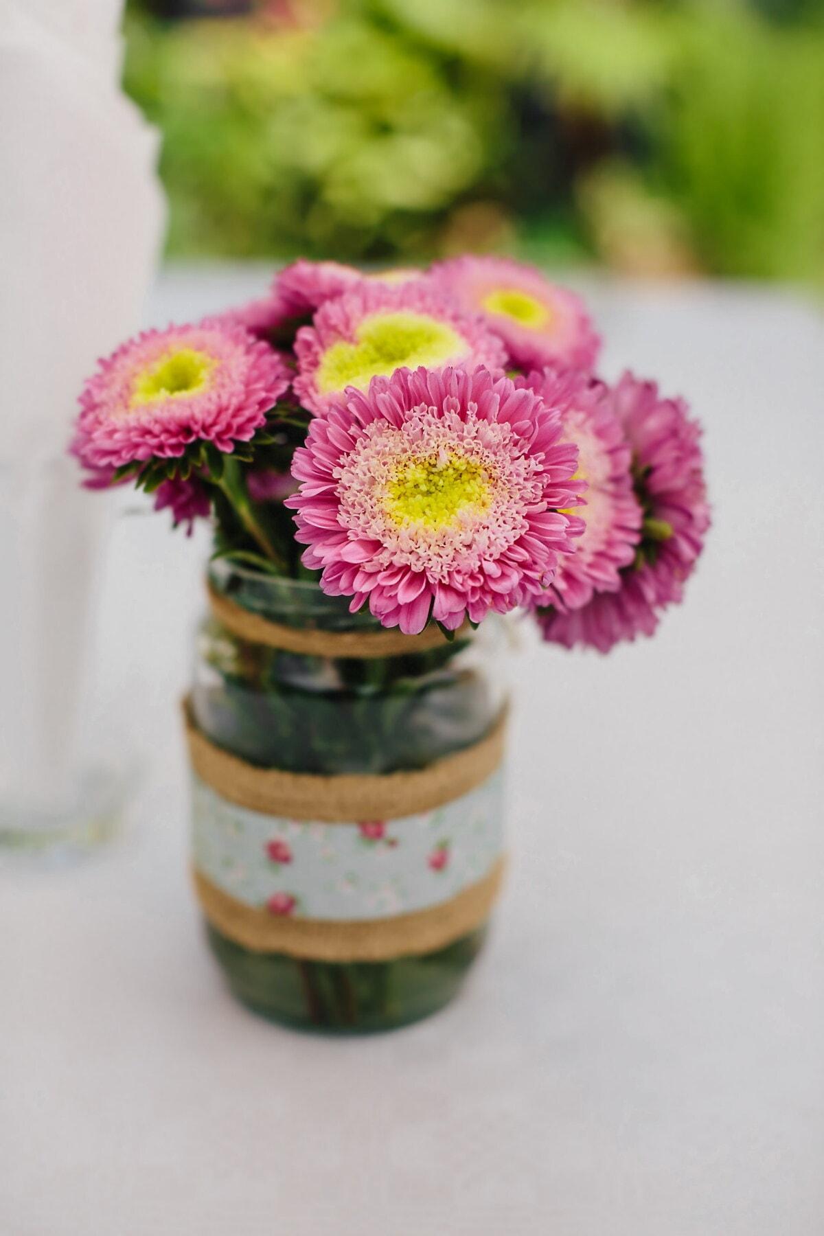 vase, pot, vintage, rosâtre, bouquet, fleurs, rose, nature, fleur, nature morte