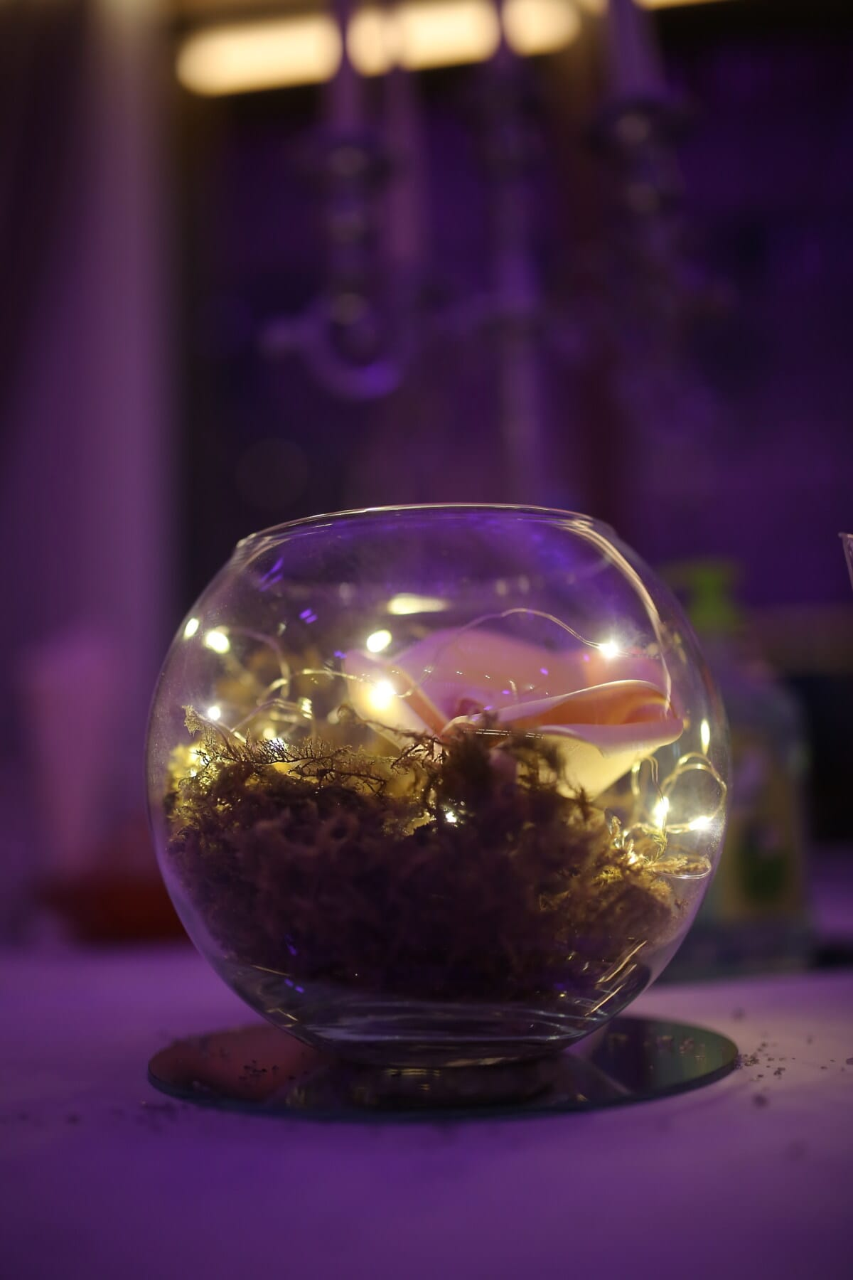 bowl, crystal, sphere, light, luxury, still life, glass, color, decoration, indoors