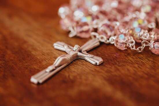 necklace, Christ, christianity, silver, crystal, cross, jewelry, beads, blur, traditional