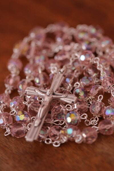 Christ, christianity, jewelry, silver, cross, necklace, beads, shining, bright, luxury