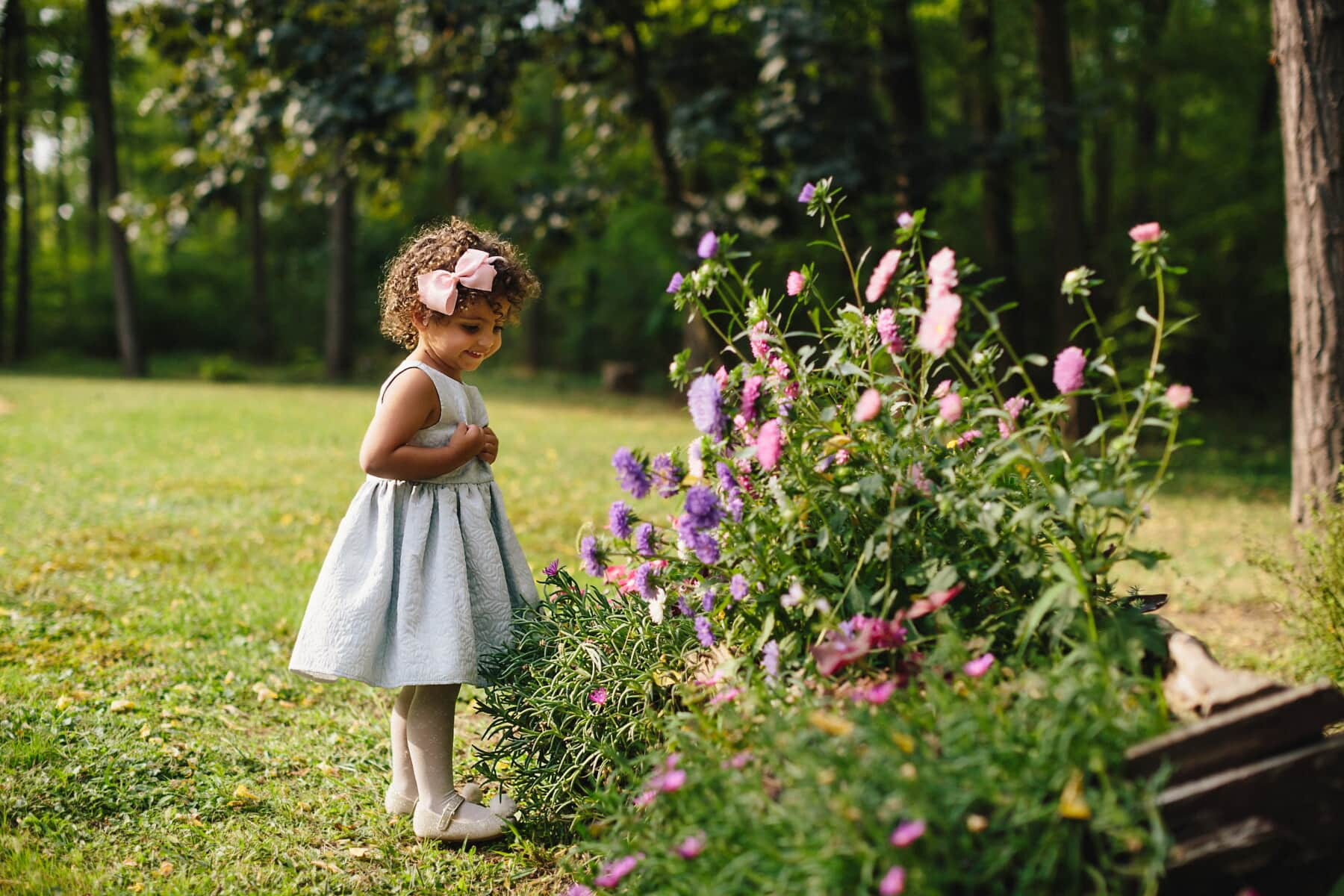 young, pretty girl, child, dress, fancy, smiling, enjoying, happiness, happy, grass