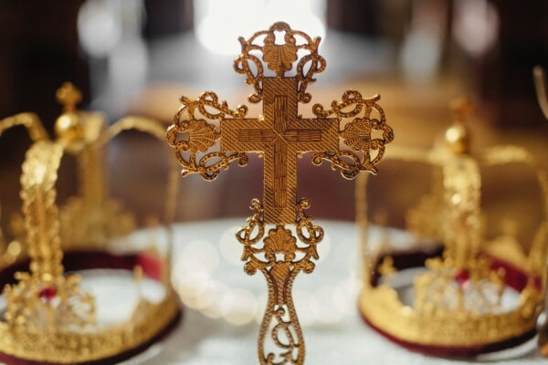 gold, cross, royalty, christianity, crow, luxury, spirituality, religion, shining, church