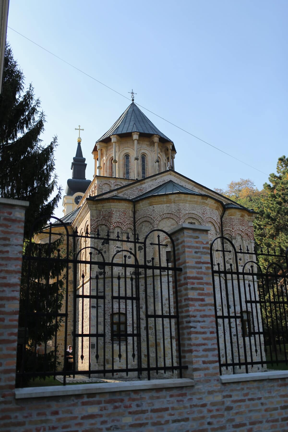 monastery, cast iron, medieval, fence, religious, architectural style, backyard, building, church, cathedral
