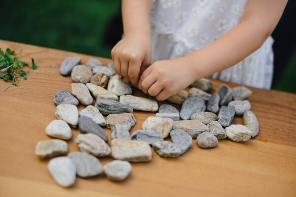 stones, hands, young, pebbles, girl, pebble, zen, nature, harmony, stone
