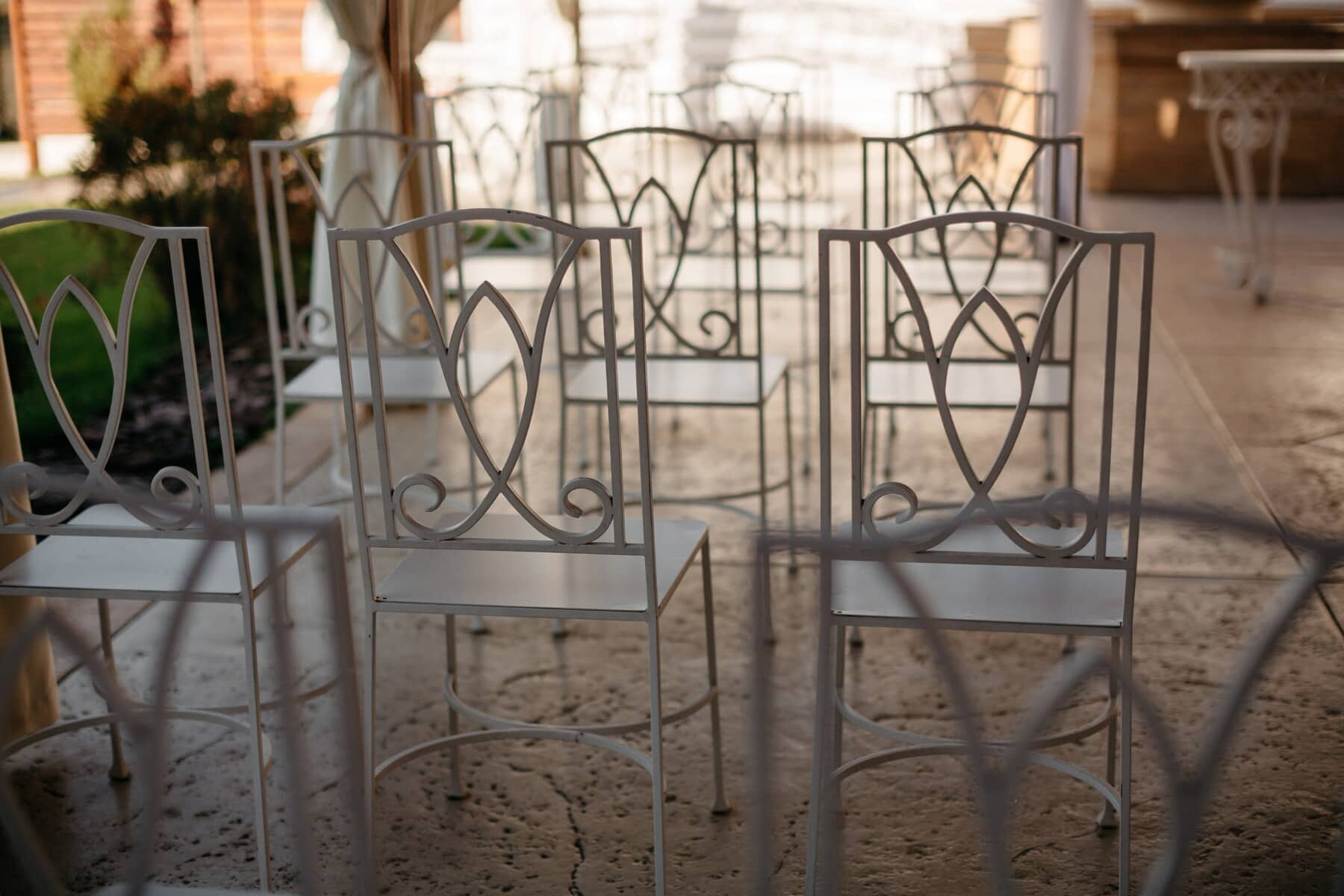 metal, chairs, white, design, vintage, cast iron, iron, furniture, chair, old