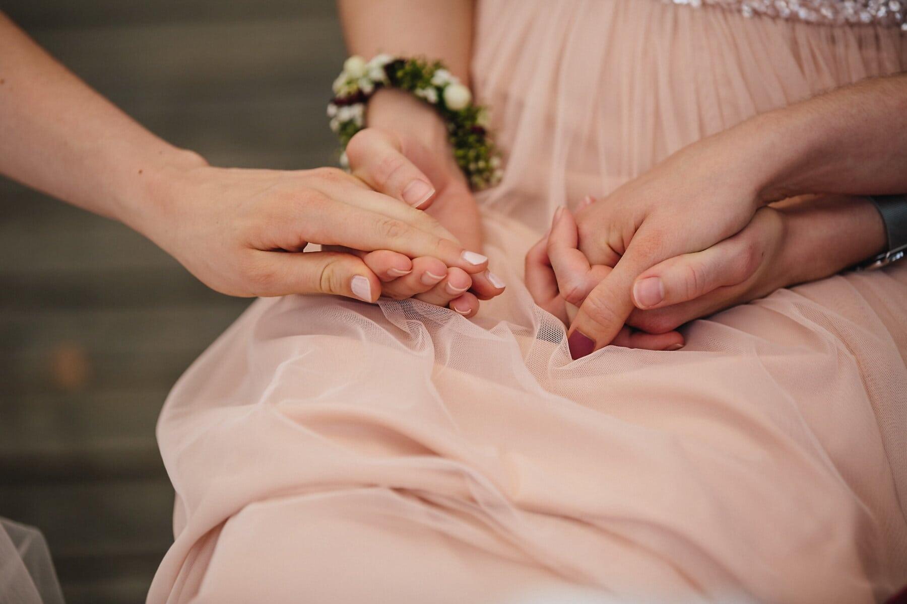 Händchen halten, Schwestern, Freundschaft, Mädchen, Freunde, Emotion, berühren, Freundin, Liebe, Frau