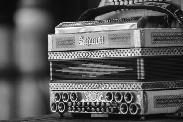 acoustic, vintage, accordion, old fashioned, old style, old, antiquity, nostalgia, retro, monochrome