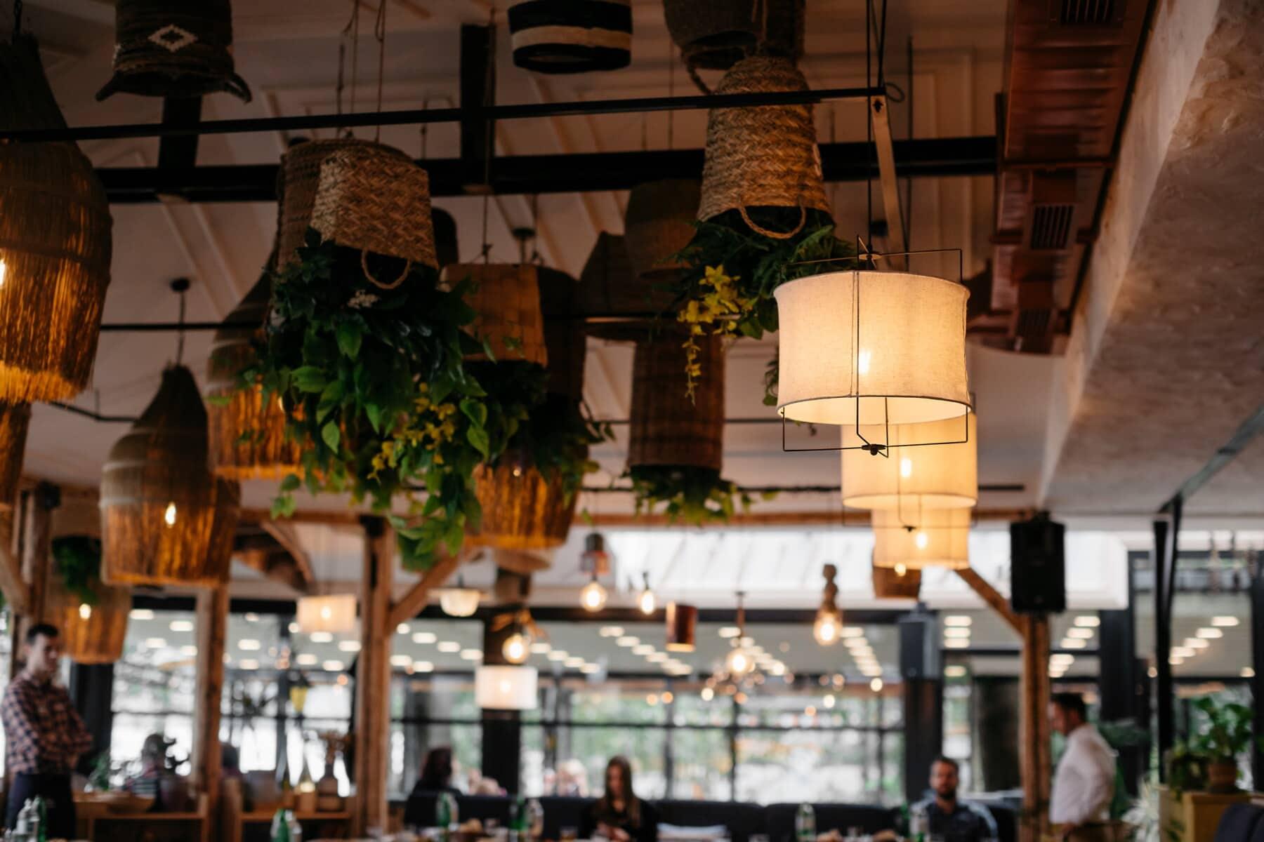Laterne, Jahrgang, Restaurant, Decke, Cafeteria, Architektur, Lampe, Menschen, Einkaufen, Stadt