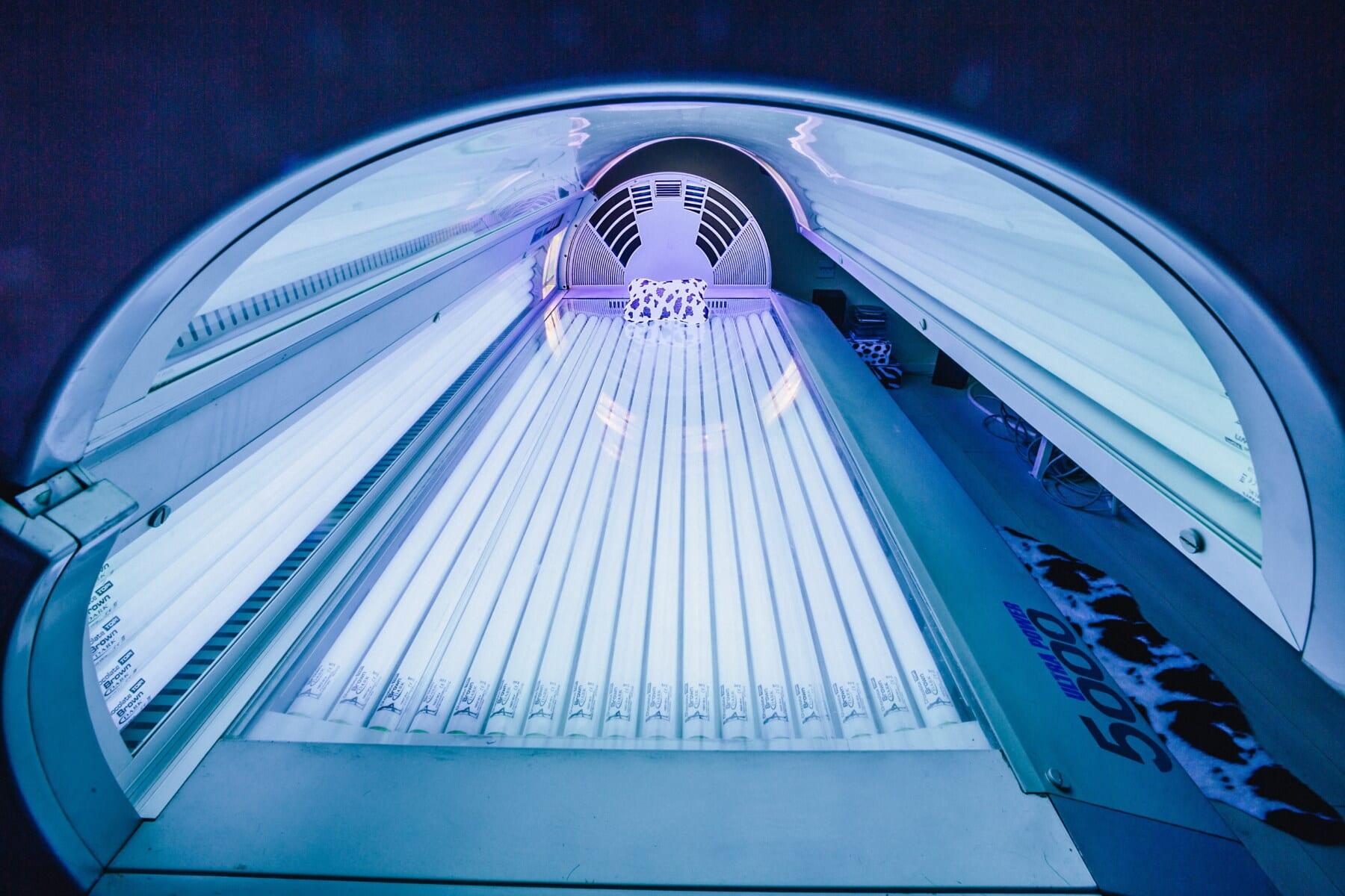 studio, solarium, machine, technologie, ampoule, diode, infrarouge, lumières, Néon, Salon