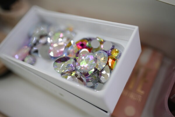 box, jewelry, plastic, colorful, crystal, accessory, indoors, still life, luxury, precious