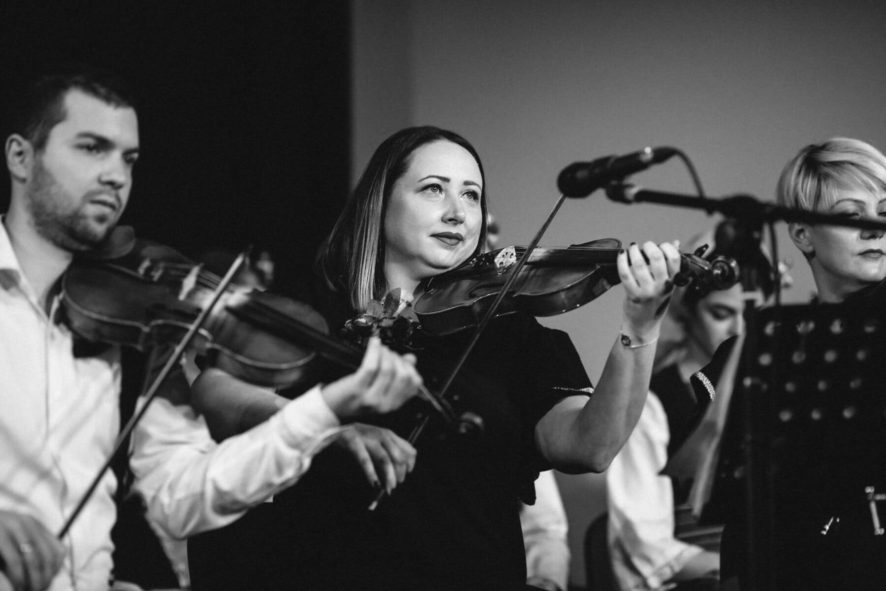 musique, concert, classique, violon, Orchestre, gens, femmes, homme, instrument, musicien
