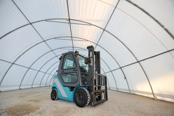 diesel, forklift, machine, heavy, industrial, warehouse, machinery, vehicle, industry, indoors