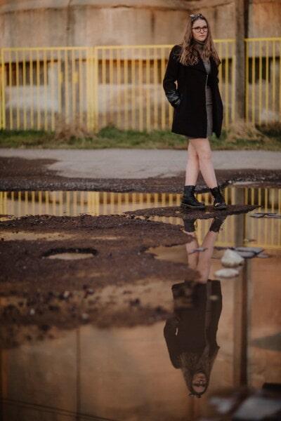 outfit, fancy, fashion, teenager, autumn, walking, street, asphalt, woman, girl