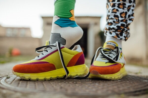 colorful, sneakers, legs, socks, free style, fashion, clothing, footwear, foot, pair