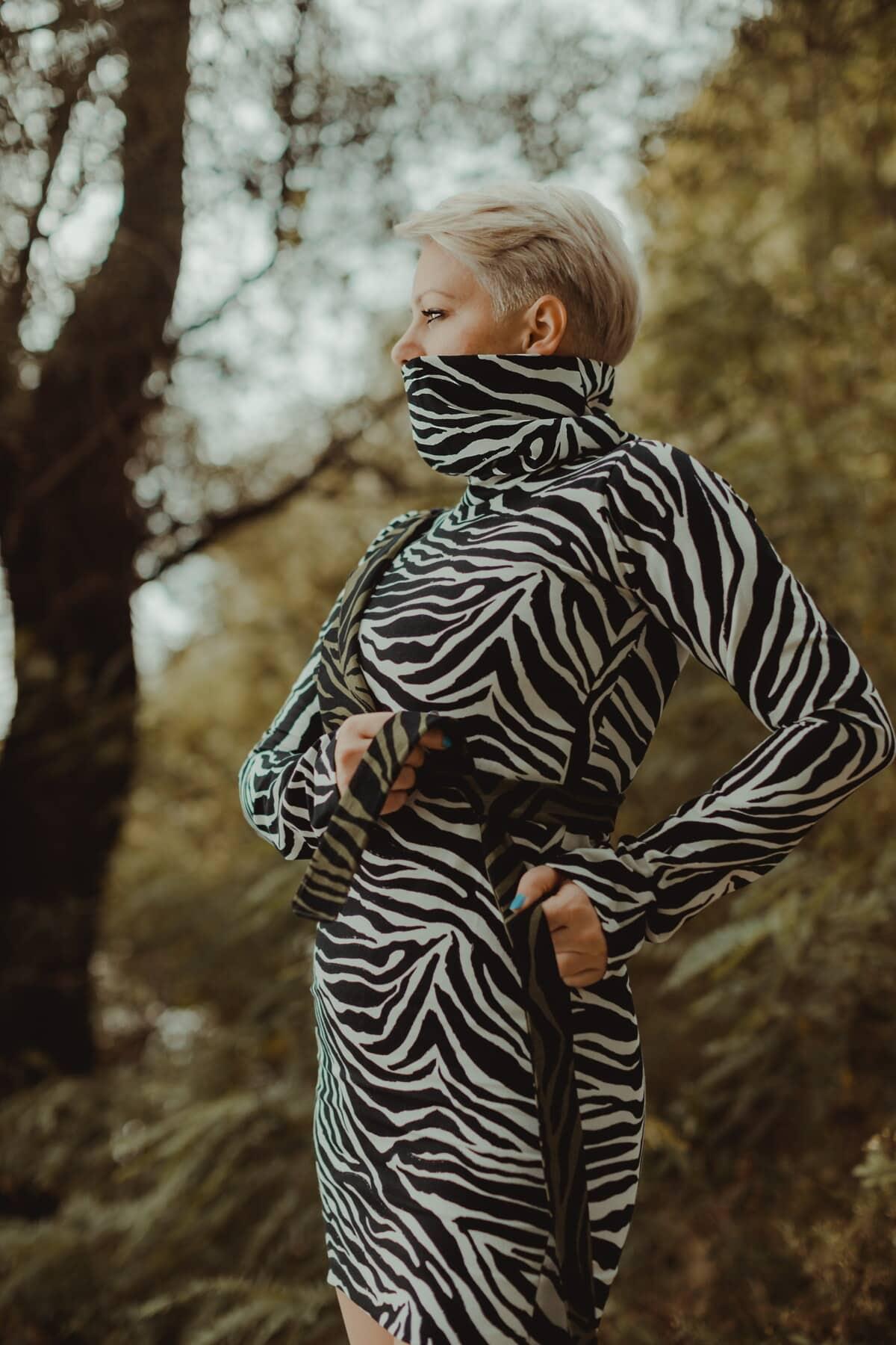 jupe, conception, camouflage, masque visage, tête, Outfit, ceinture, charme, mode, nature