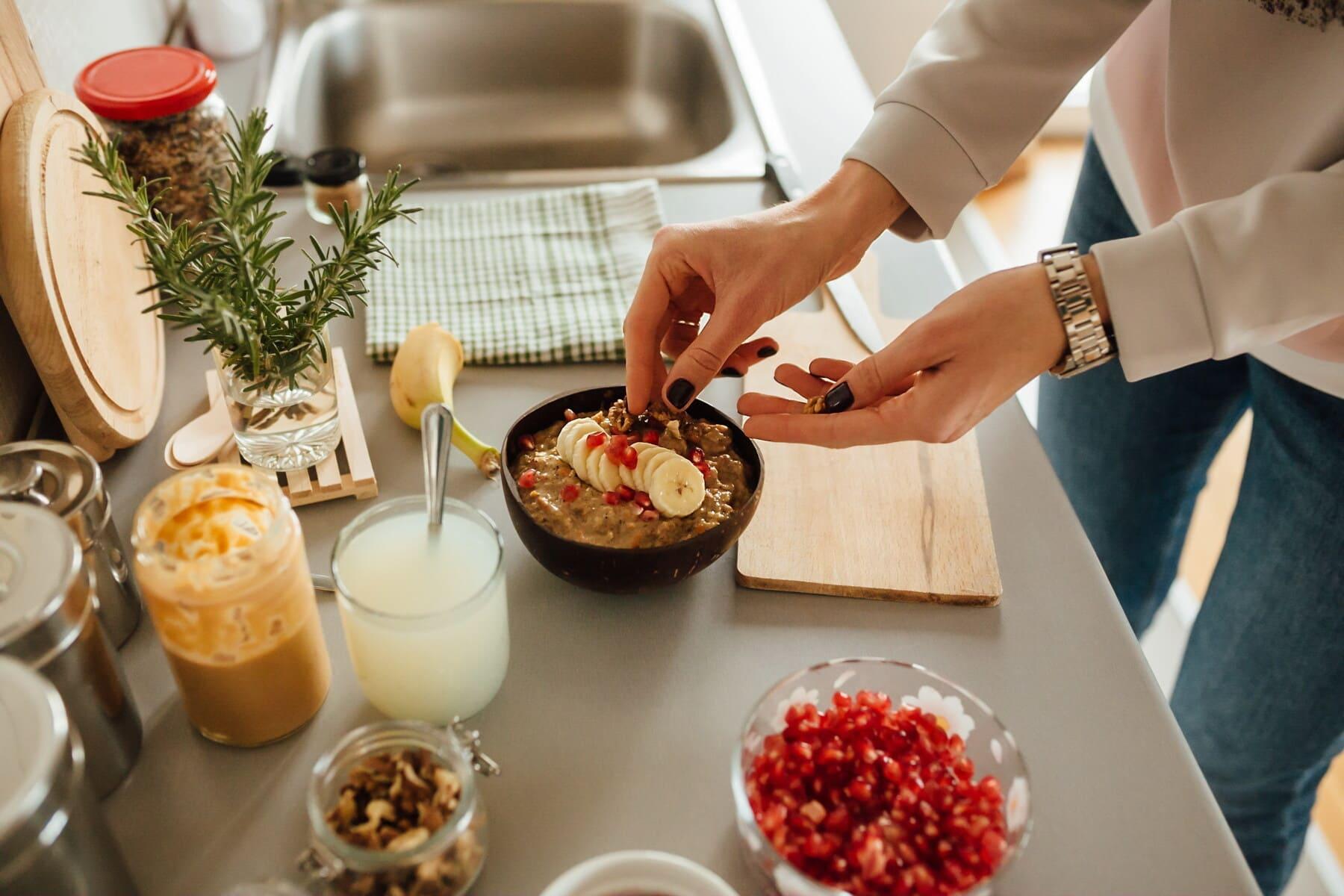 table de cuisine, ustensiles de cuisine, cuisine, préparation, le petit déjeuner, jus de fruits, fruits, limonade, alimentaire, couteau