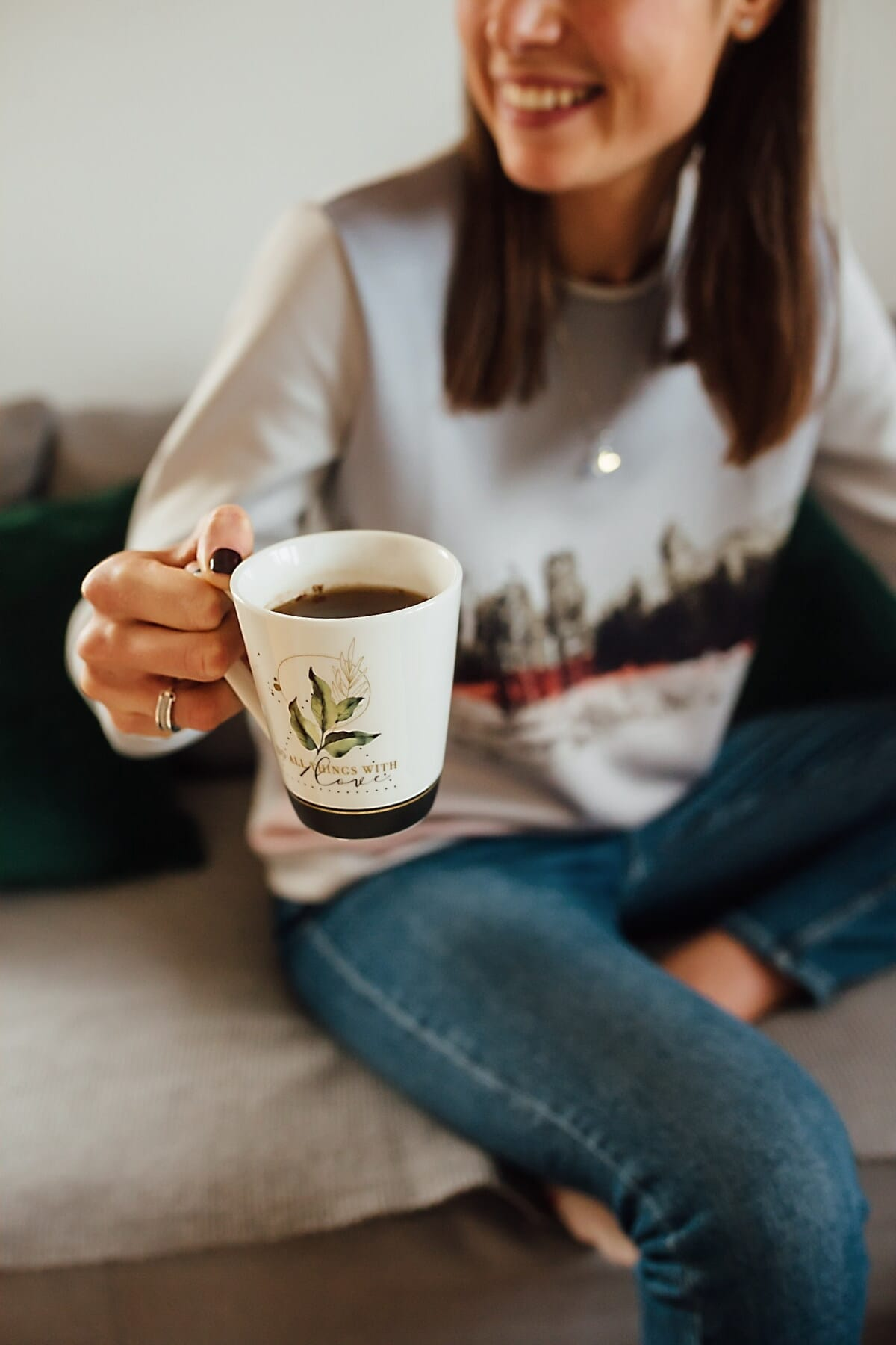 coffee mug, coffee, caffeine, cappuccino, teenager, young woman, relaxation, espresso, beverage, indoors