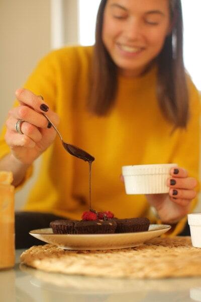 çikolata, tatlı, sıcak, çörek, kapalı, kahvaltı, kadın, pişirme, Şafak, Aile