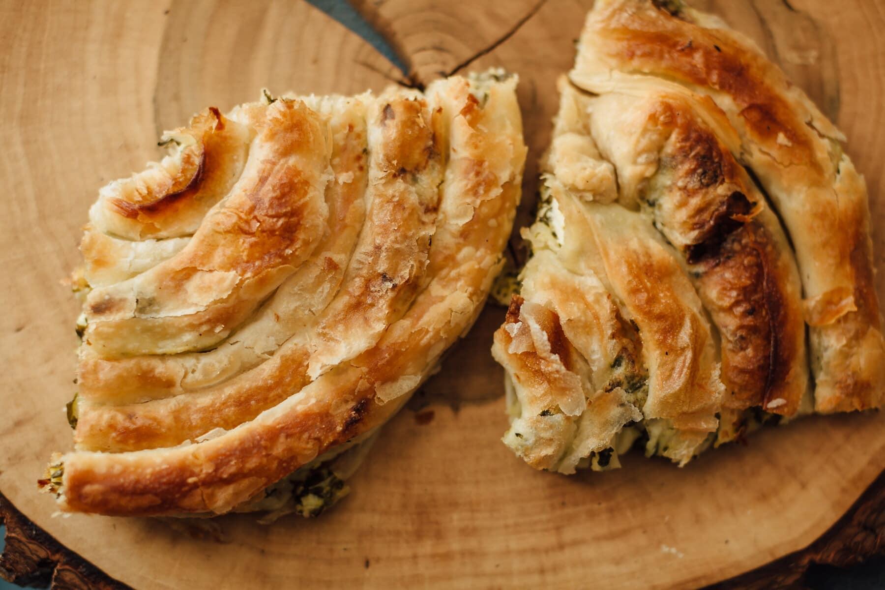 pita skorja, koláče, plátky, domáce, syr, chlieb, pečivo, pečenie, jedlo, pecivo