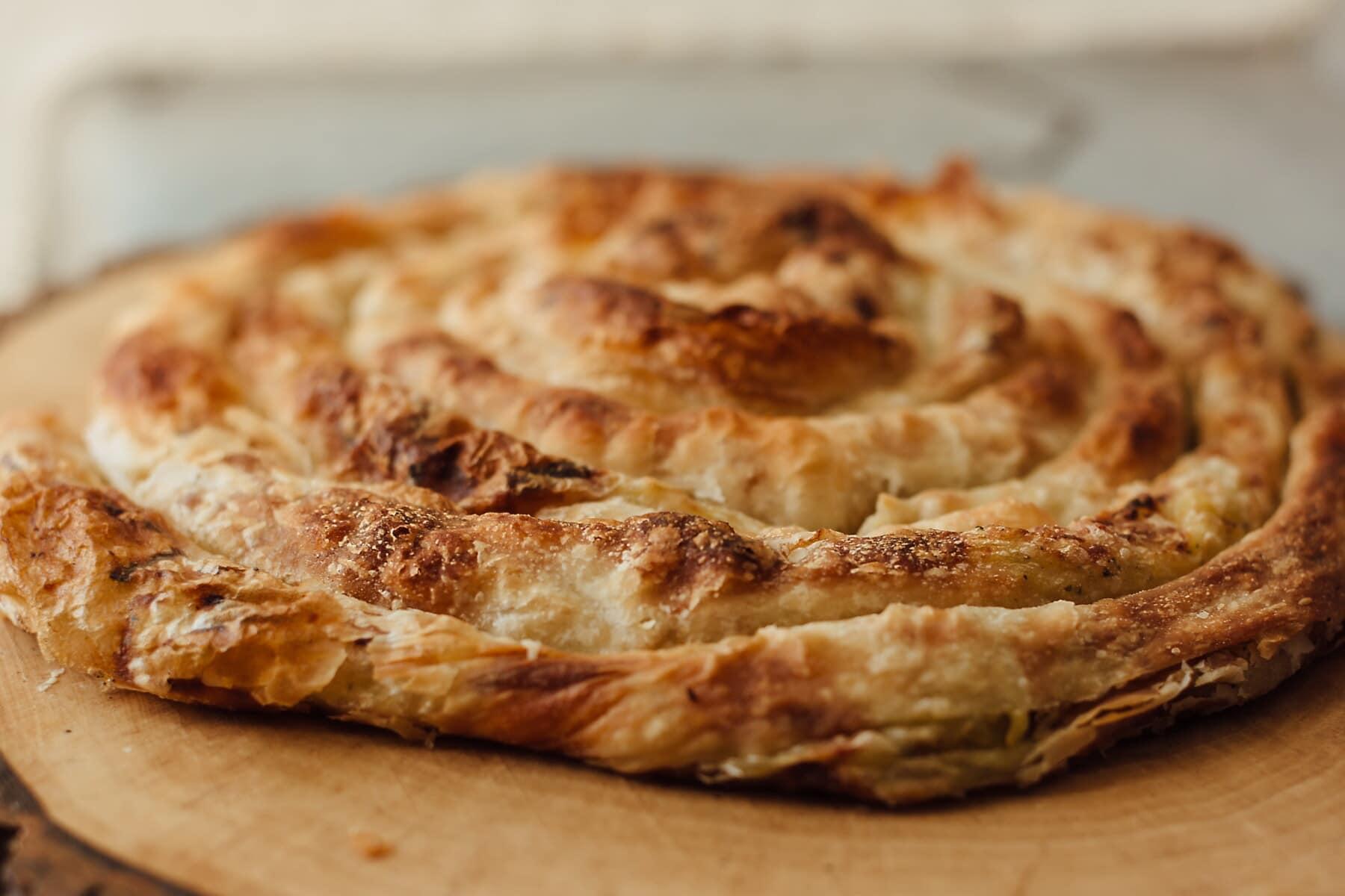 domestique, cuisine, chien, maison, produits de boulangerie, déjeuner, pâte à tarte, savoureux, alimentaire, repas