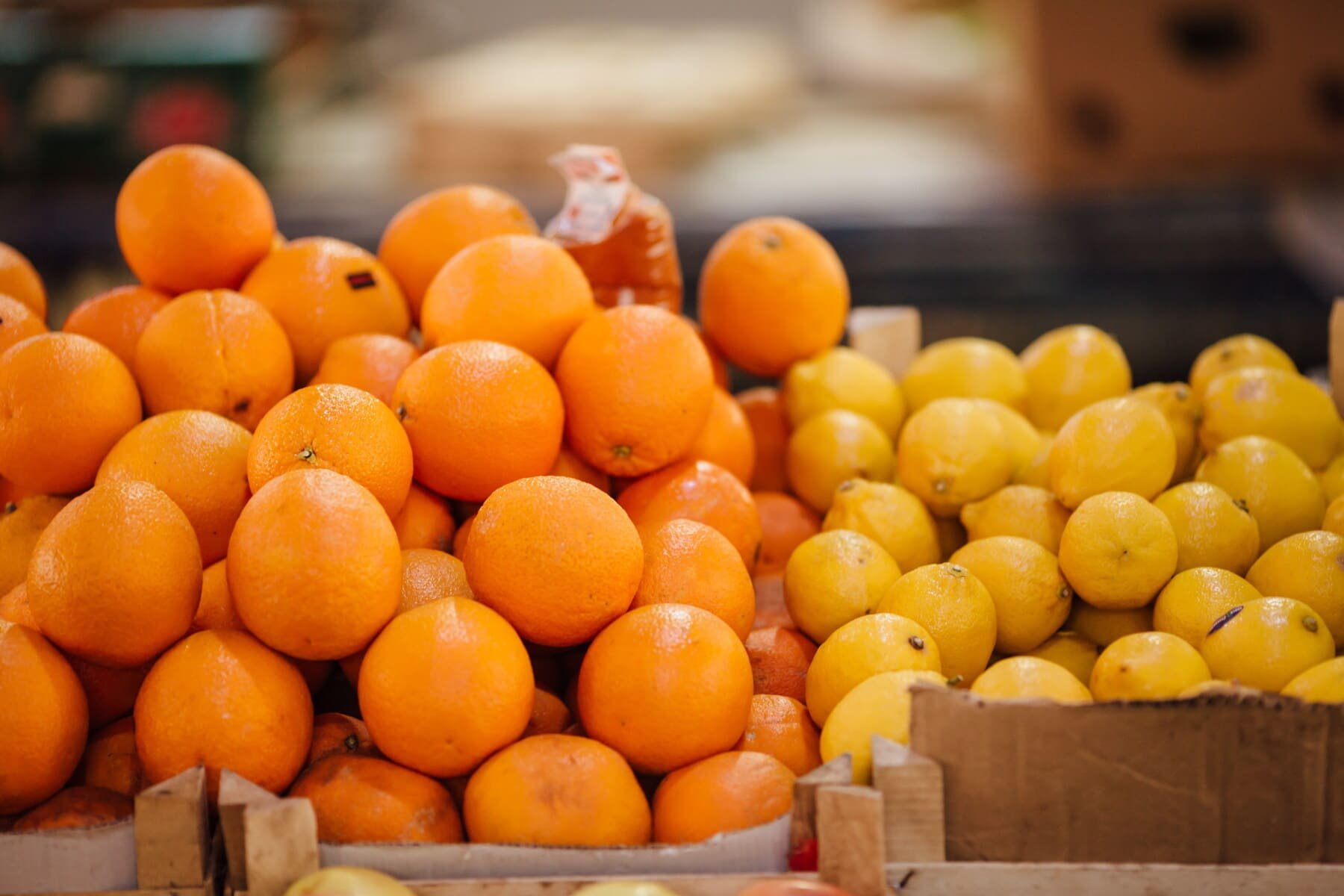 zeste d'orange, oranges, agrumes, marché, à pied, citron, de nombreux, en bonne santé, doux, vitamine