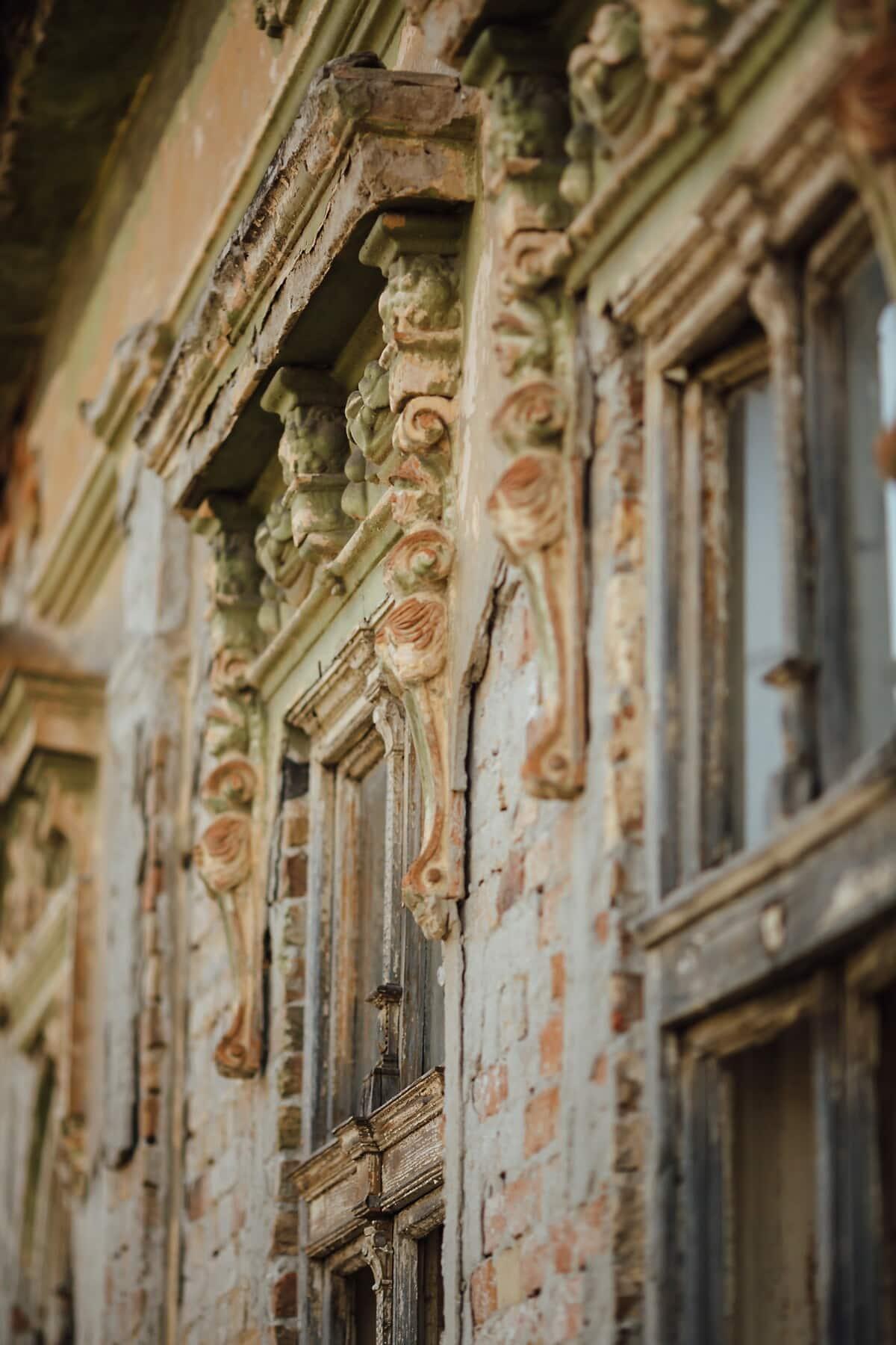 fenster, alt, Haus, Ruine, verlassen, Architektur, kathedrale, Gebäude, Antik, Tür
