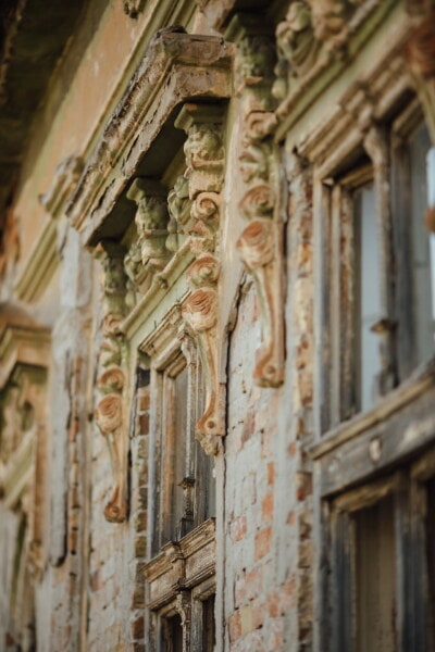 windows, old, house, ruin, abandoned, architecture, cathedral, building, antique, door