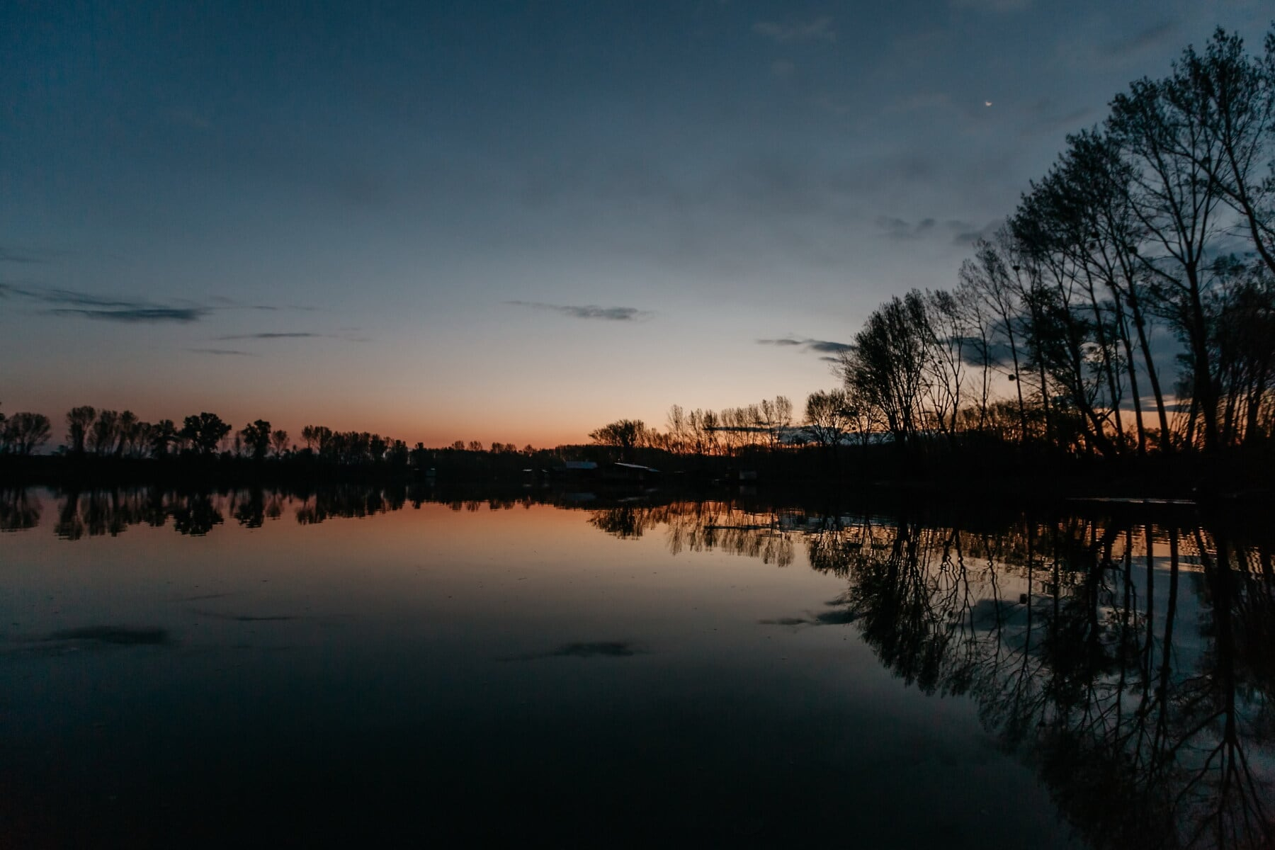 sunset, landscape, atmosphere, dawn, lake, water, reflection, tree, evening, river