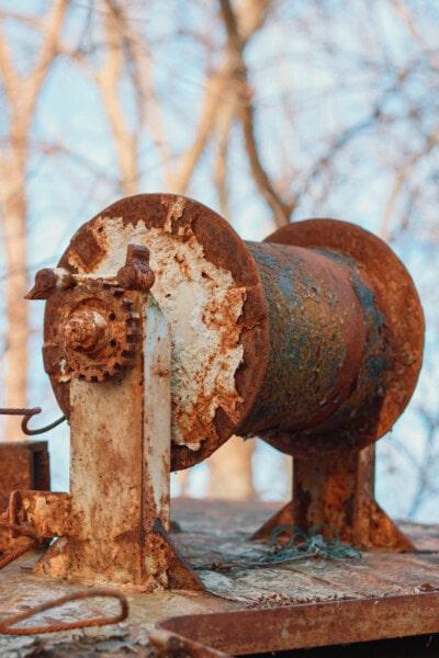 objek, besi cor, gigi, karat, meninggalkan, kotor, besi, lama, baja, industri