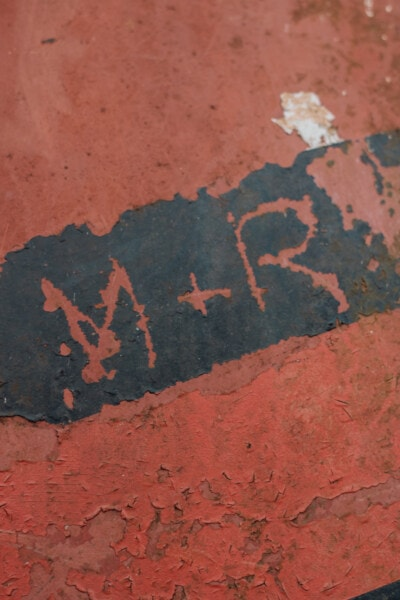 metal, paint, text, close-up, rust, symbol, dirty, texture, grunge, old