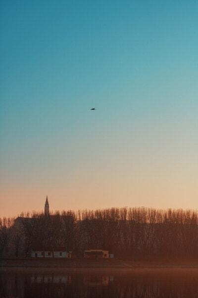 atmosphere, dawn, sun, sunset, landscape, water, dusk, nature, evening, tree