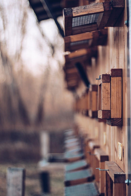klietka, drevené, ručná práca, Vonkajší, zväčšenie, drevo, vonku, architektúra, staré, retro