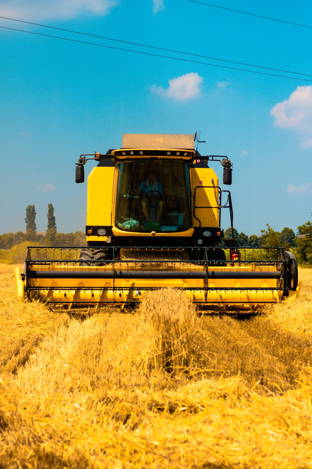 machine, agriculture, combine, wheatfield, summer, farmer, device, harvester, machinery, industry