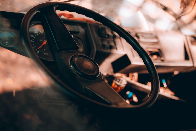 volant de direction, démodé, panneau de commande, compteur de vitesse, Changement de vitesse, transport, tableau de bord, en voiture, contrôle, poste de pilotage